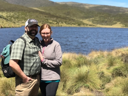 Lake Ellis on Mount Kenya.